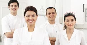 Dental team who install dental bridges