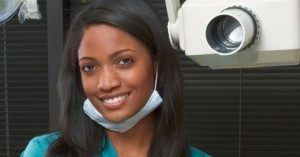 Dentist doing emergency dentistry