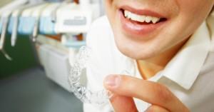 Patient with orthodontics